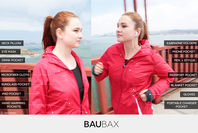 Baubax jacket travel gadgets