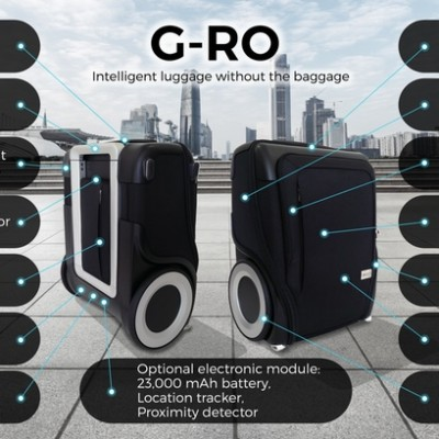 G-RO is a revolutionary carry-on bag with off-road wheels