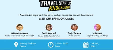 Announcing the judges for first Travel Startup Knockdown