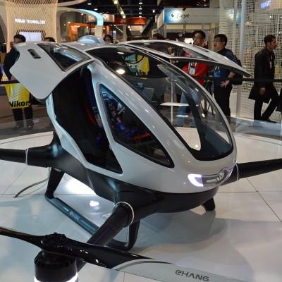 Flying robot taxis to begin testing in Las Vegas