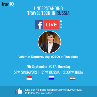 Russian Travel Tech Industry: FB Live with Valentin Dombrovsky