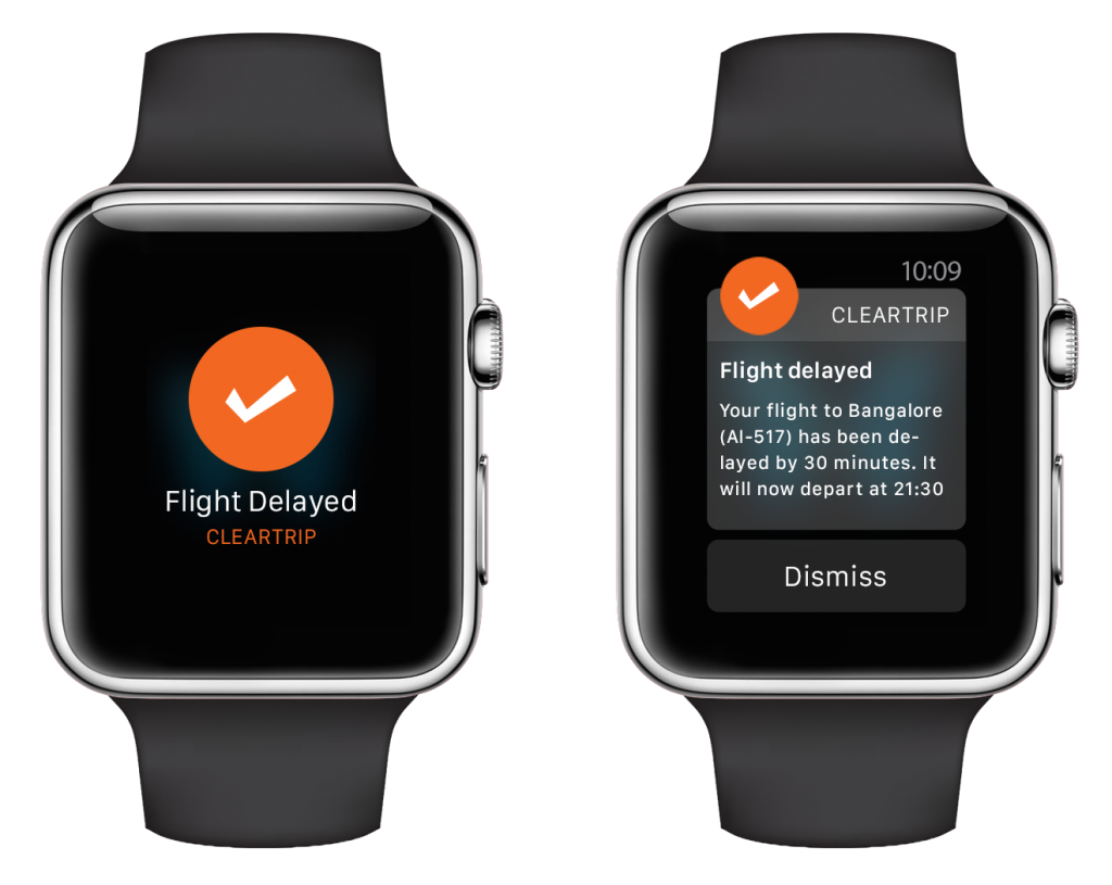 Cleartrip apple watch notifications