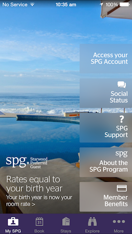 The SPG iOS app