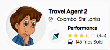 travel triangle agent illustration