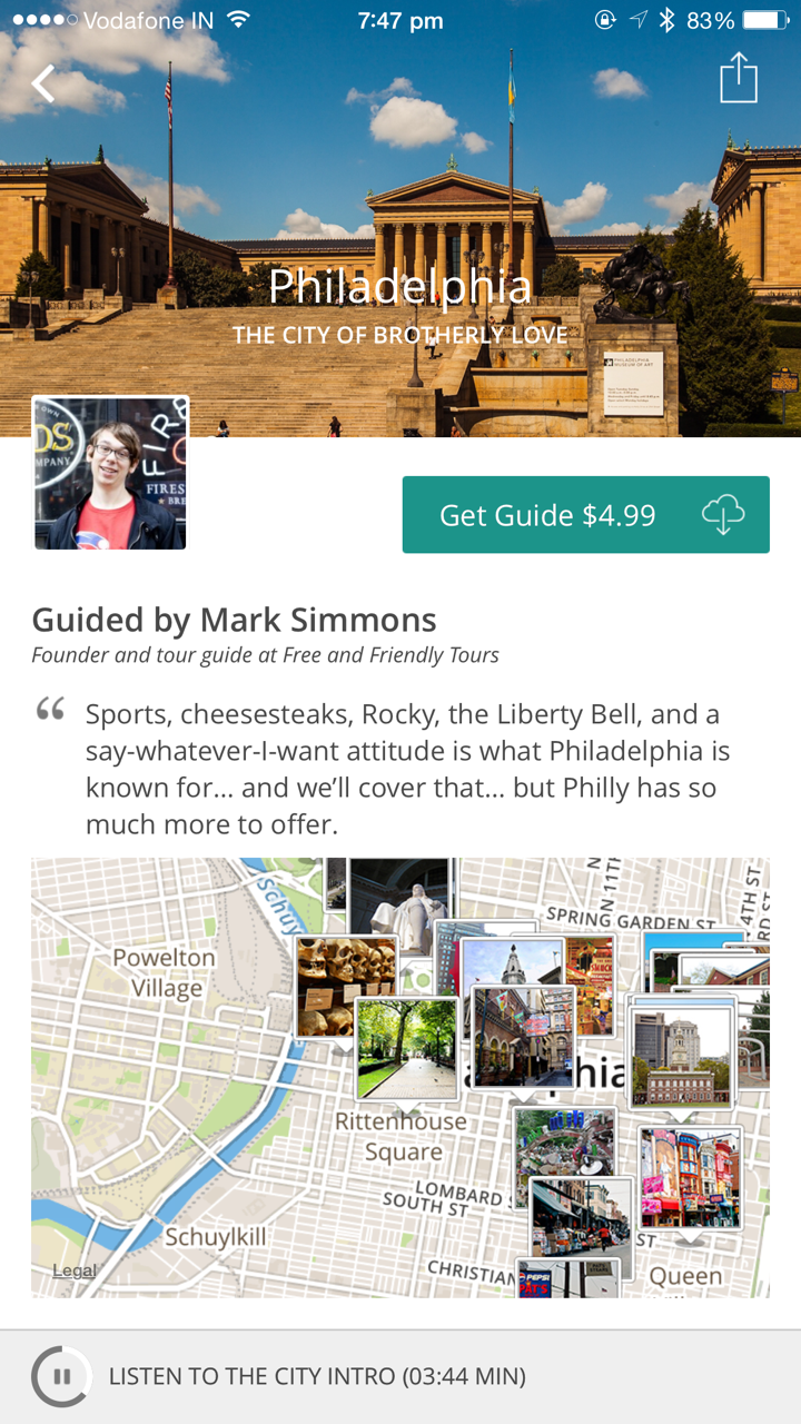 The guide for Philadelphia by Mark Simmons