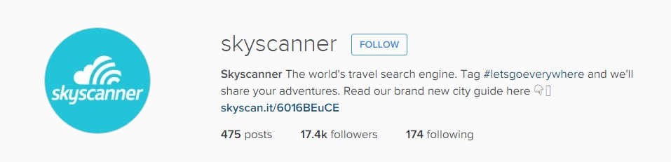 instagram guide skyscanner screenshot