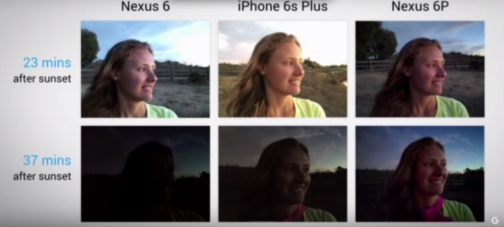 camera comparision nexus 6p and iphone