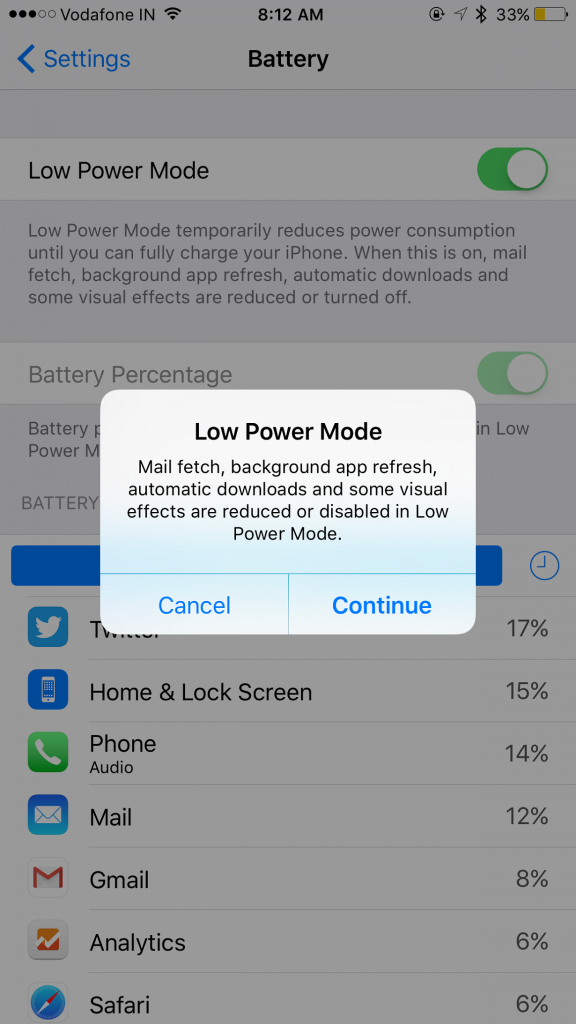 ios low power