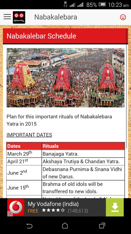 Nabakalebar Festival App
