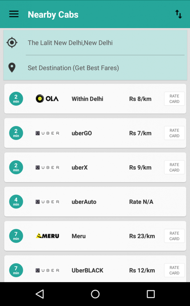 oyetaxi screenshot