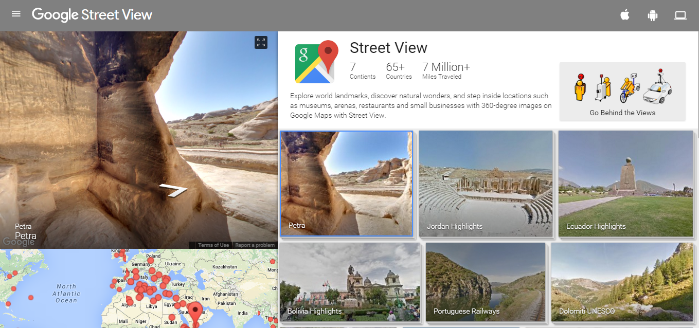 Google Street View Inarticle