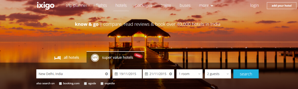 Ixigo launches 'Super Value Hotels' metasearch for budget hotels and aggregators