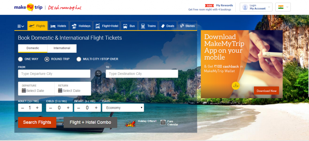 makemytrip screenshot