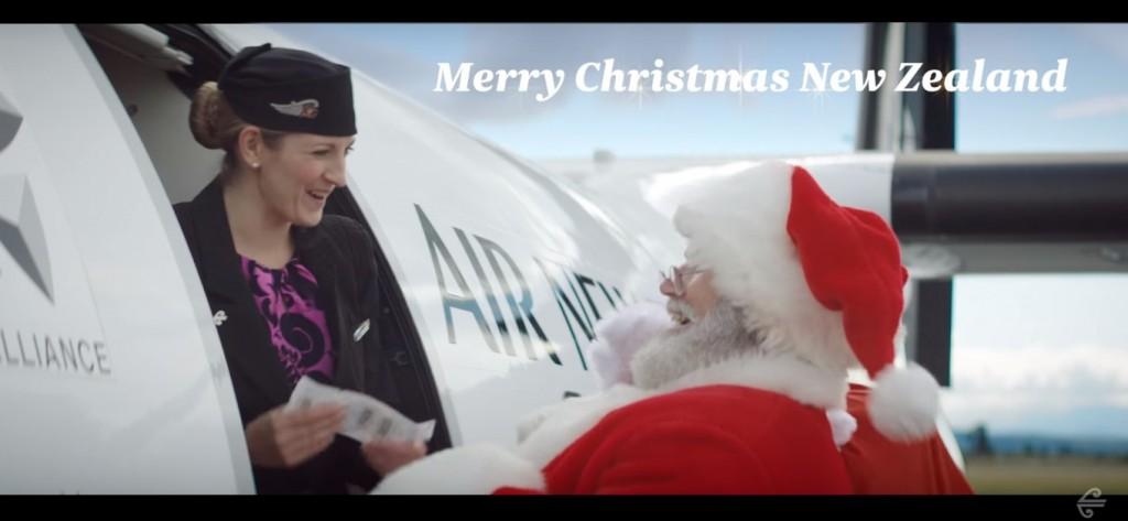 air new zealand santa