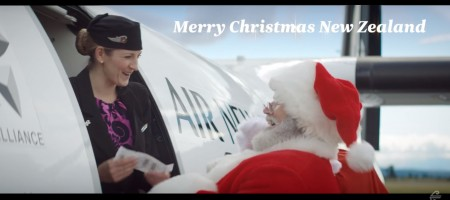 Santa is taking Air New Zealand this Christmas