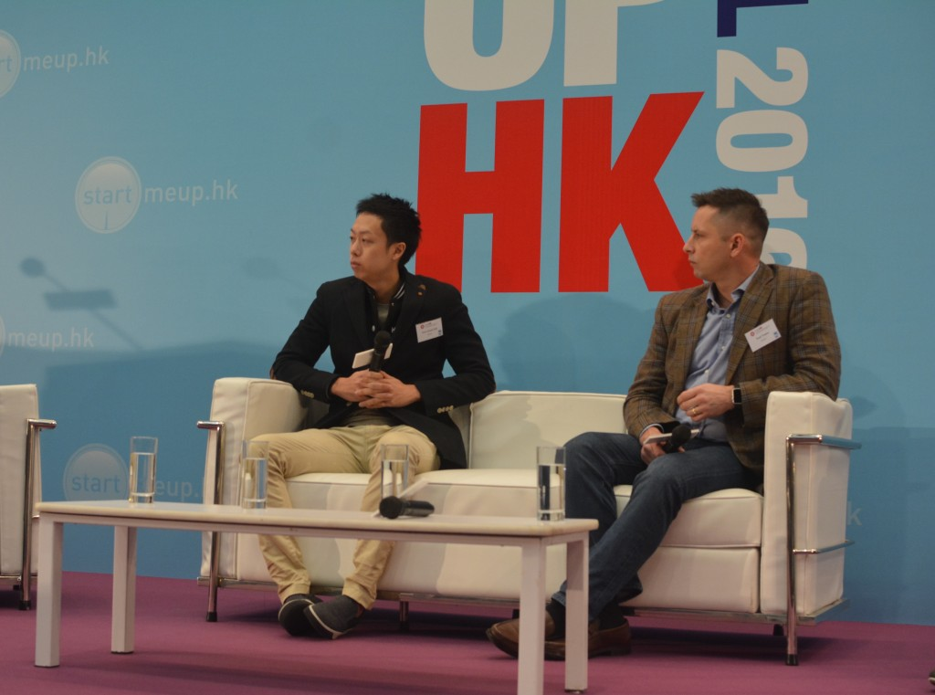 From Left: Klook's Co-Founder Eric Gnock Fah with Co-Panelist at StartmeupHK festival in Hong Kong