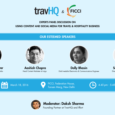 TravHQ puts together a panel of Content Marketers to stir discussion at FICCI Travel and Hospitality Tech Conclave 2016