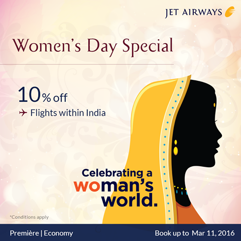 Women's Day Jet Airways