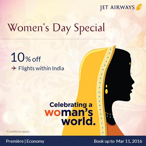 Women's Day Jet Airways