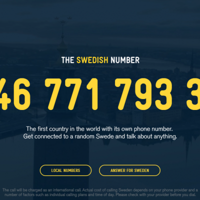 Have you tried calling a Swede yet? The tourism campaign that went haywire somewhere