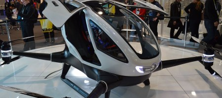 Flying robot taxis to begin testing in Las Vegas