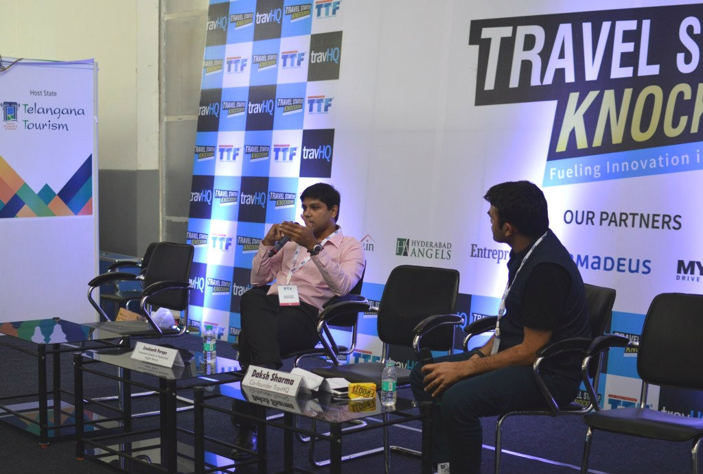 Sreekanth Perepu, Investment Director, Hyderabad Angels Network with Daksh Sharma, Co-Founder, TravHQ