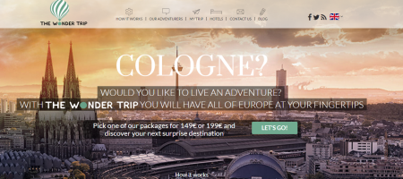 TheWonderTrips is an itinerary planner that doesn't reveal your travel destination. It's a surprise