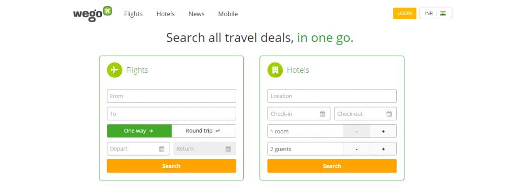 wego website screenshot