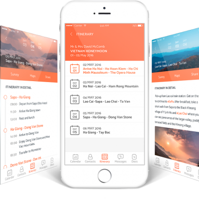 Replace paper itinerary with a mobile app; Tineri-Strictly operators