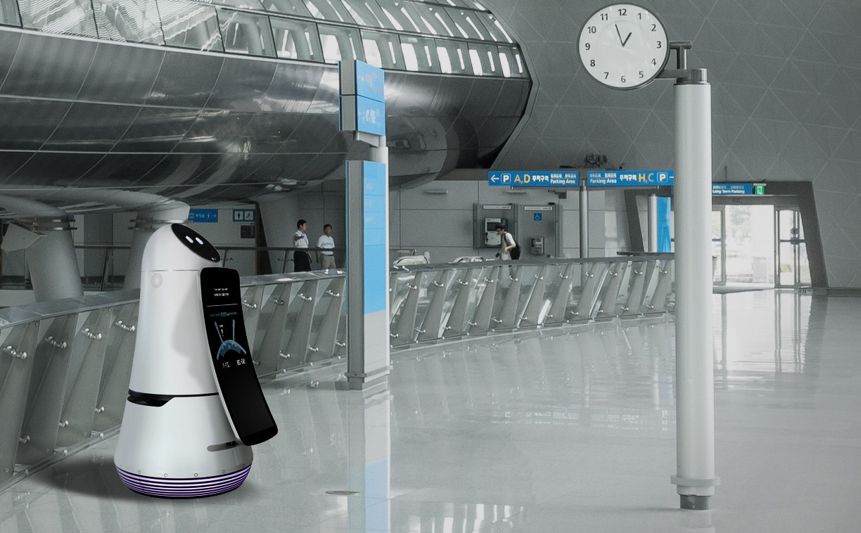 LG has made a guide robot to help you at the airport