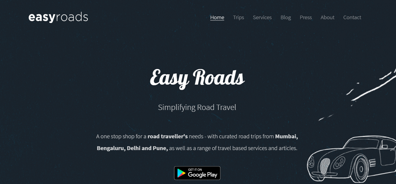 Easy Roads will help you write your adventure stories this year