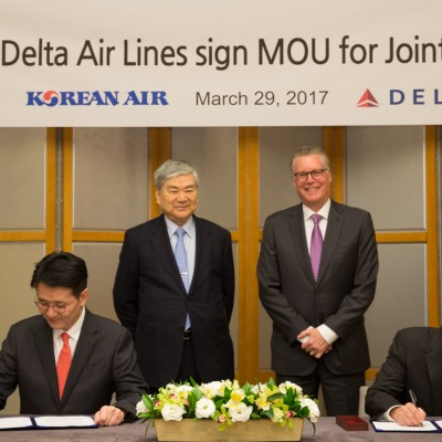 Delta and Korean Air to create join venture to share costs and revenues