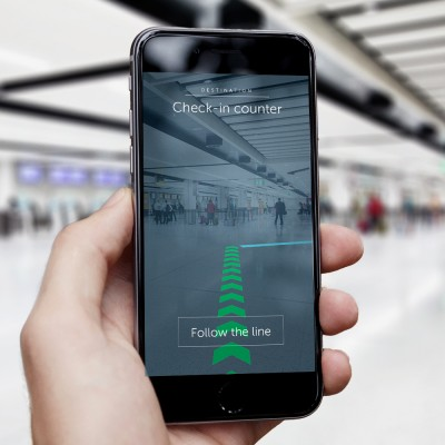 Gatwick Airport uses AR maps so that you don't lose your way inside the terminal