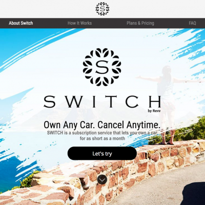 Revv announces the launch of SWITCH-multibrand car subscription platform