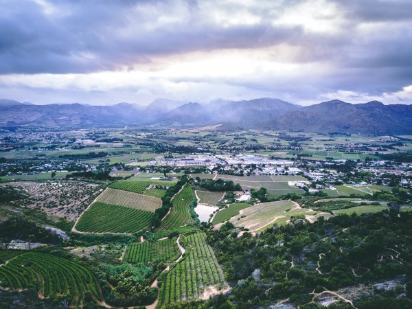 An aerial view of Paarl