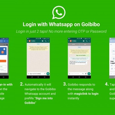 Goibibo now enables users to login via WhatsApp