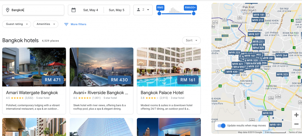 Google-Hotel Booking Site