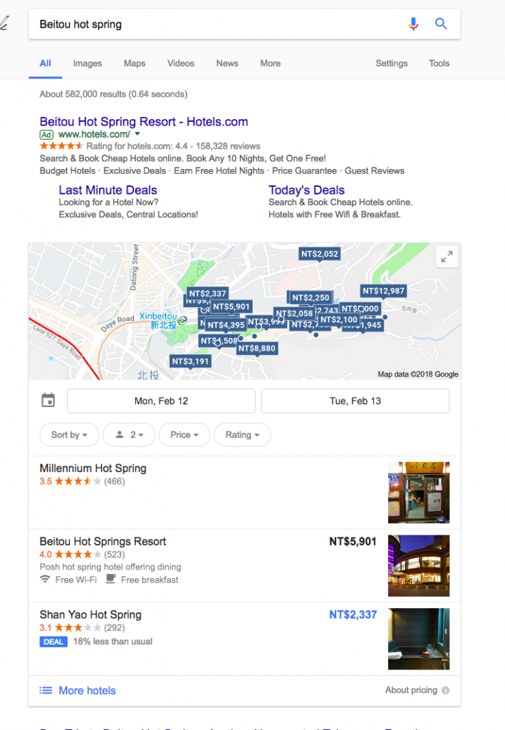Google- Pitching Travel Ahead of Search Results